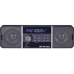 Radio samochodowe, renkforce RUSD-SP 12V/24 4147C5, 4 x 40 W, MP3, USB, SD, MMC, jack, Zawiera pilot zdalnego sterowania, Retro