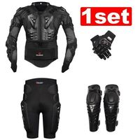 New Moto Motorcross Racing Motorcycle Body Armor Protective Jacket+ Gears Short Pants+protective Motorcycle Knee Pad+gloves