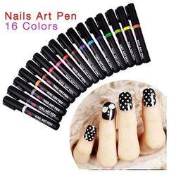 Nail Art Pen Mazak do zdobienia paznokci Nr 10 Ciemny Fiolet 7ml - Nr 10 Ciemny Fiolet