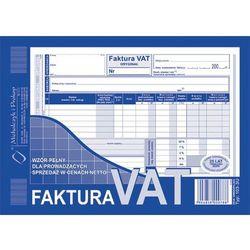 Faktura VAT-wzór pełny dla prowadzących sprzedaż w cenach netto A5 oryginał + kopia