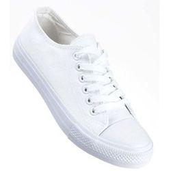 biale trampki z brokatem bialy w kategorii Damskie obuwie