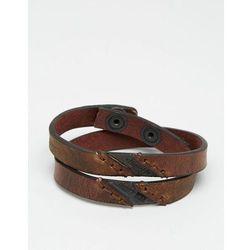 Diesel Aline Leather Wrap Bracelet - Brown