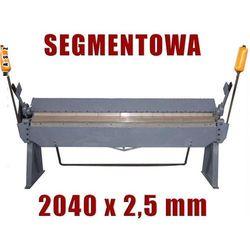 ZAGINARKA GIĘTARKA SEGMENTOWA DO BLACHY MAKTEK 2040mm x 2.5mm EWIMAX Promocja (--121%)