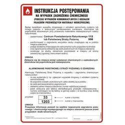 Instrukcja postępowania w razie zagrożeń chemicznych