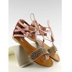 Sandałki z indiańskim wzorkiem SK68 Pink