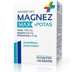 MAGNEZ Max + Potas x 50 tabletek + 10 tabletek Gratis