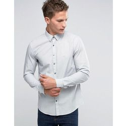 Calvin Klein Slim Smart Shirt In Print - Grey