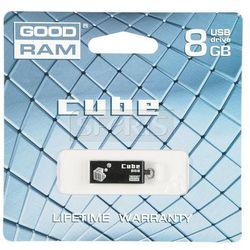 GOODRAM FLASHDRIVE 8GB USB 2.0 CUBE Czarny - PD8GH2GRCUKR9
