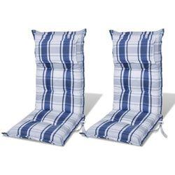 vidaXL Poduszki na krzes?a ogrodowe, fotele, niebieskie (8 cm). Darmowa wysy?ka i zwroty