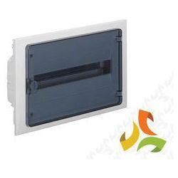 Rozdzielnica,rozdzielnia elektryczna 18 modułów podtynkowa tworzywo, drzwi transparentne HAGER VF118TD