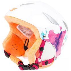 [C4Z15-JKSD200] Kask narciarski dziewczęcy JKSD200 - allover biały