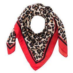 e46ef7ccea2461 Chusta w cętki leoparda bonprix czerwono-jasnobrązowo-czerwony sygnałowy