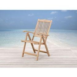 Drewniane krzeslo ogrodowe - regulowane oparcie - TOSCANA