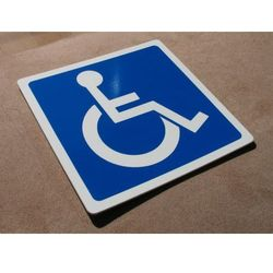 Piktogram, Symbol - Miejsce dla Inwalidy 15x15cm