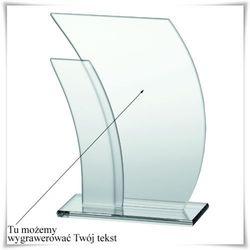 Statuetka szklana z opcją grawerowania
