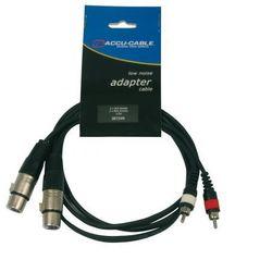 Accu-Cable Przewód audio 2xXLR 2xRCA 1,5m