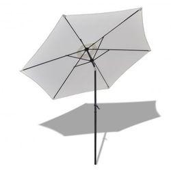 Parasol przeciwsłoneczny okrągły 3 m, biały Zapisz się do naszego Newslettera i odbierz voucher 20 PLN na zakupy w VidaXL!